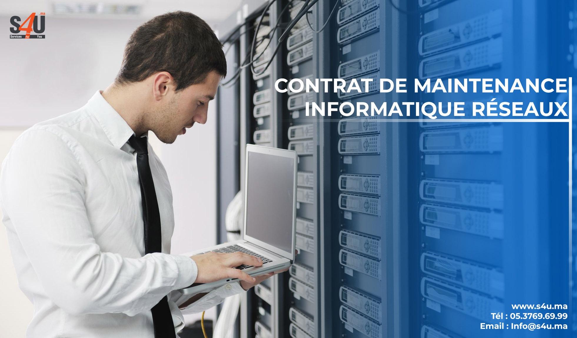 Contrat de maintenance informatique réseaux Rabat, Casablanca, Maroc