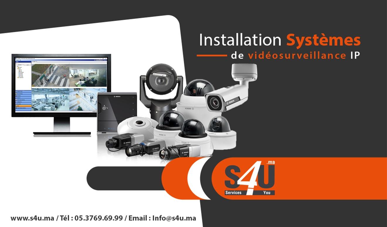 Installation Systèmes de vidéosurveillance IP, Rabat, Casablanca, Maroc-min