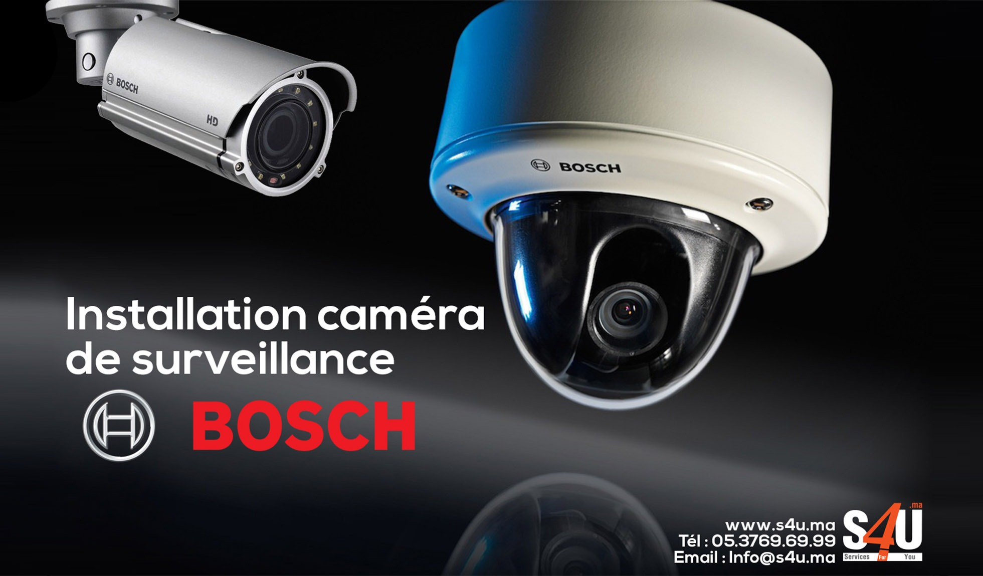 Installation-caméra-de-surveillance-BOSCH-Rbat-Casablanca-Maroc