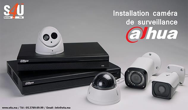 Installation caméra de surveillance Dahua