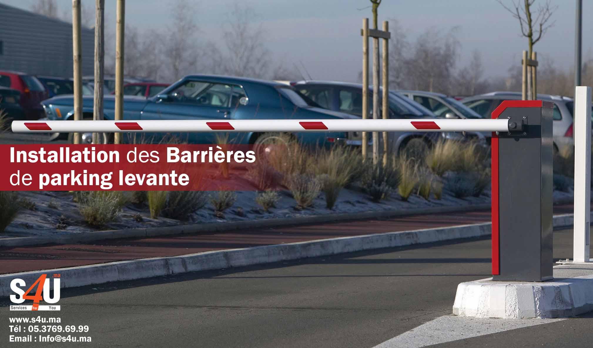 Installation-des-Barrières-de-parking-levante-Rabat-Casablanca-Maroc