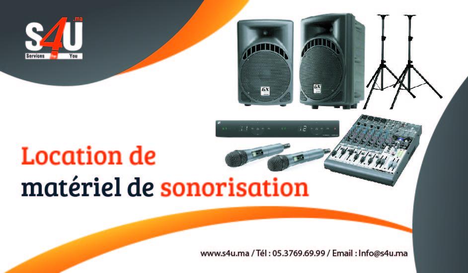 Location de matériel de sonorisation,Rabat, Casablanca, Maroc-01
