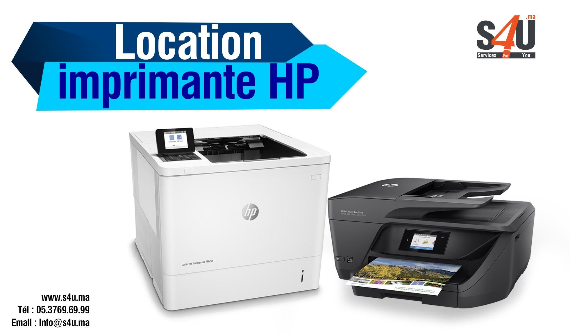 Location des imprimantes Hp
