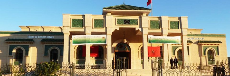 Ministère de la justice 72 Tribunal sur tout le Maroc