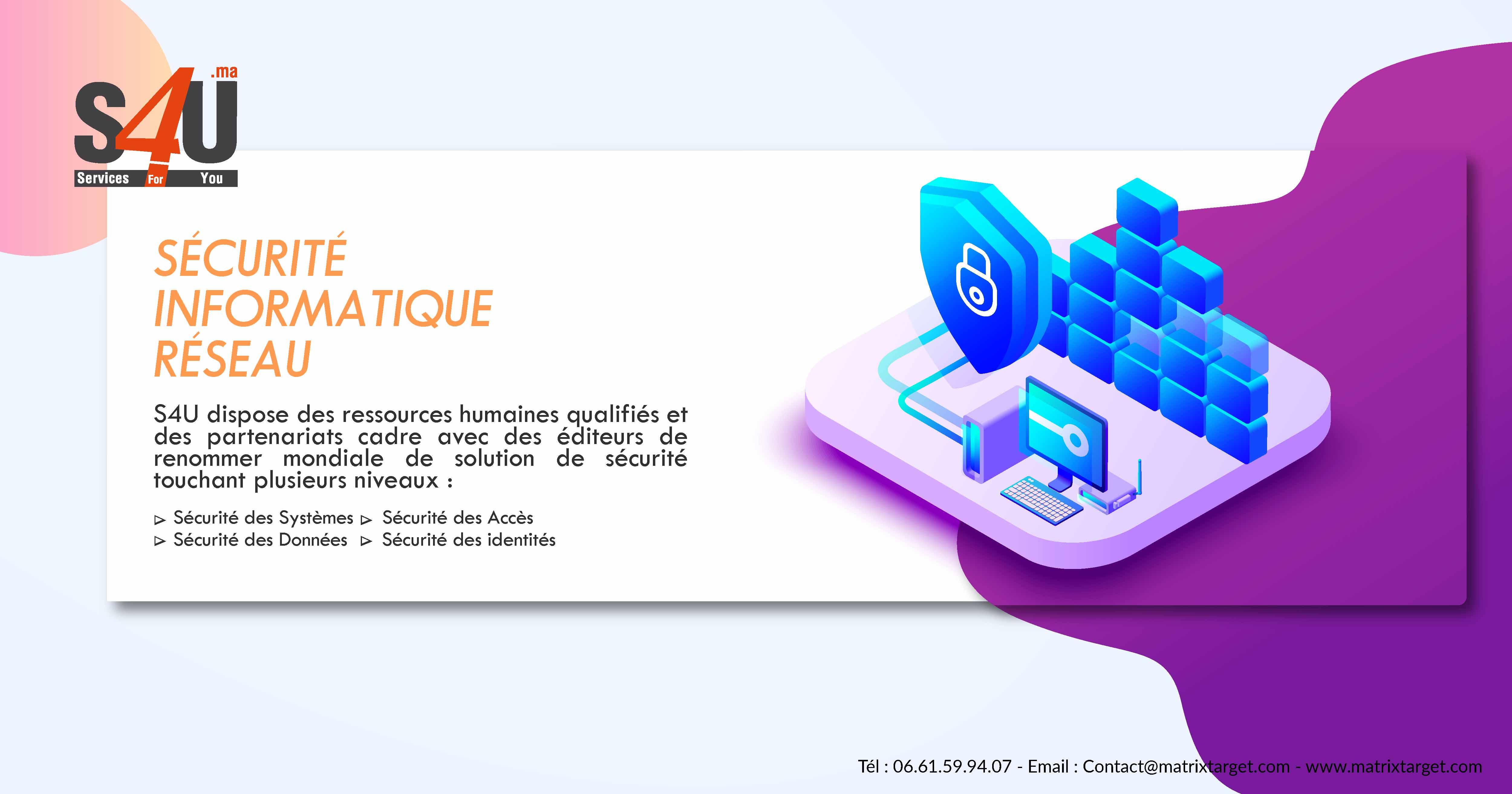 sécurité informatique réseau, Rabat, Casablanca, Maroc